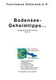 Geheimtipps Angebotskatalog 2012 - Tourismus Untersee e.V.