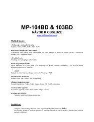 MP-104BD & 103BD NÁVOD K OBSLUZE - Schuss