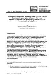 Referentenentwurf für ein zweites Gesetz zur - Institut für Urheber