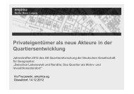 Privateigentümer als neue Akteure in der Quartiersentwicklung (Iris