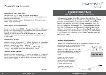 pico mini Bedienungsanleitung - Fabenti