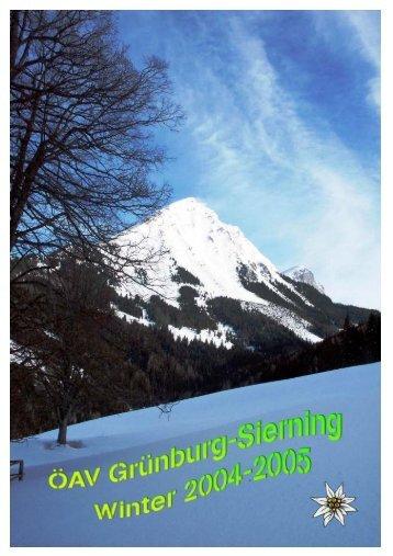 Winter Programm 2004/2005 (ca. 0,4 Mb - ÖAV Ortsgruppe Sierning