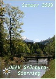 Sommerprogramm 2009 (ca. 0,3 Mb) - ÖAV Ortsgruppe Sierning