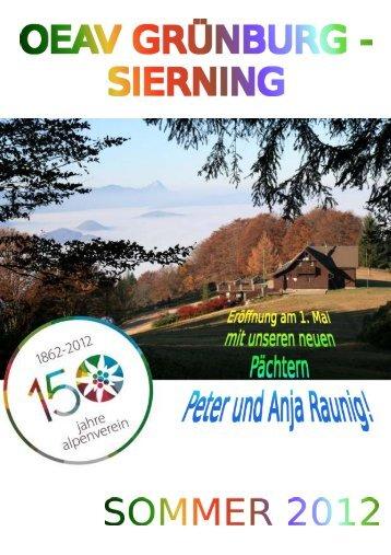 Sommerprogramm 2012 (pdf) - ÖAV Ortsgruppe Sierning