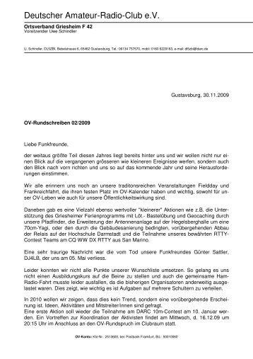 Rundschreiben 2/2009 - Ortsverband Griesheim F42
