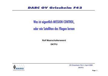 Aufgaben von Mission Control vor dem Start - Ortsverband ...