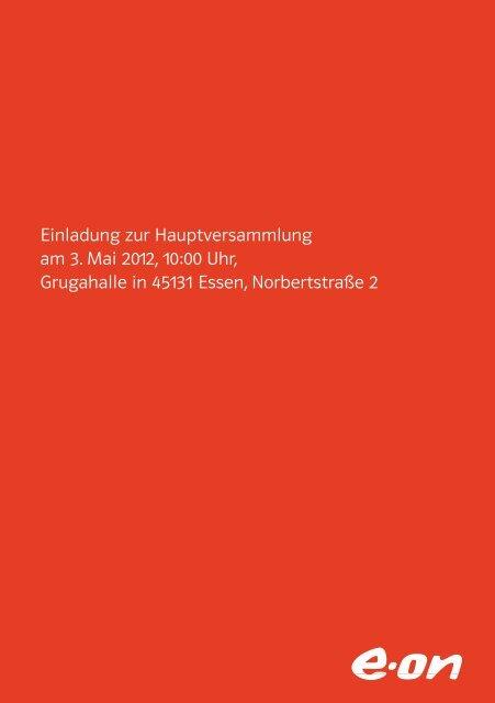 Einladung zur Hauptversammlung am 3. Mai 2012, 10:00 ... - e.on AG