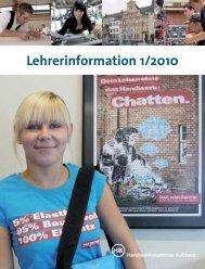Lehrerinformation 1/2010 - Handwerkskammer Koblenz