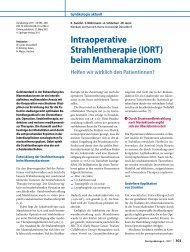 Intraoperative Strahlentherapie (IORT) beim Mammakarzinom - DGGG