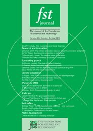 fst journal - The Foundation for Science and Technology
