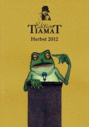 Vorschau Herbst 2012 - Edition Tiamat