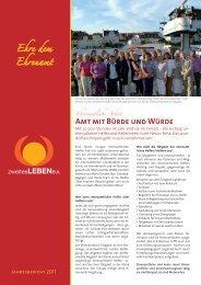 Jahresbericht 2011 - Verein Zweites Leben e.V.