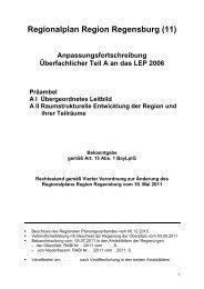 Regionalplan Region Regensburg - Die Regierung von Niederbayern
