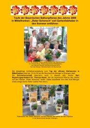 Taufe der Bayerischen Balkonpflanze des Jahres 2009 in ... - Bayern