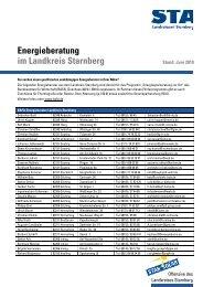 Energieberatung im Landkreis Starnberg - Energiewende Starnberg
