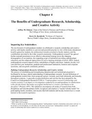 The Benefits of Undergraduate Research, Scholarship and Creative