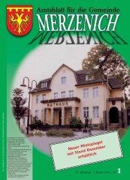 Nr. 01/2013, erschienen am 04.01.2013 - Gemeinde Merzenich