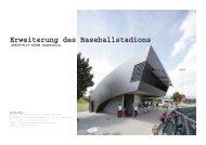 Erweiterung des Baseballstadions - peter haimerl . architektur