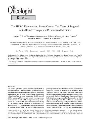 BreastCancer - The Oncologist - AlphaMed Press