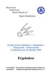 Bayerischer Gehörlosen - Sportverband eV