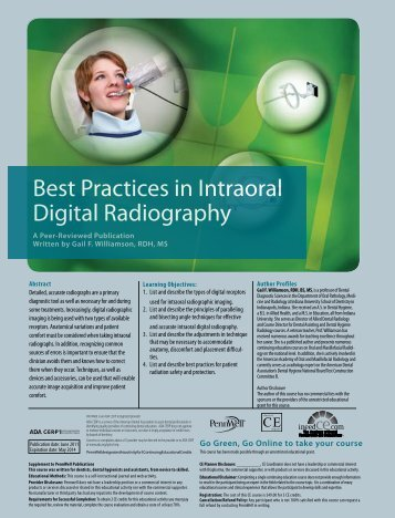 Best Practices in Intraoral Digital Radiography