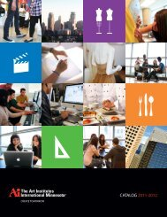 CATALOG 2011-2012 - The Art Institutes