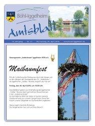 Amtsblatt vom 29.04.2010 - Gemeinde Böhl-Iggelheim