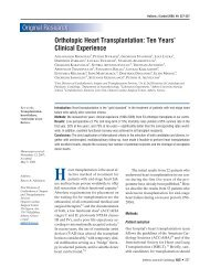 Orthotopic Heart Transplantation - The Hellenic Journal of Cardiology