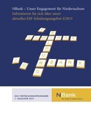 Fortbildungsprogramm 2013 - bei der NBank