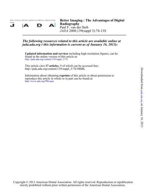 Van Der Stelt 7-13 - The Journal of the American Dental