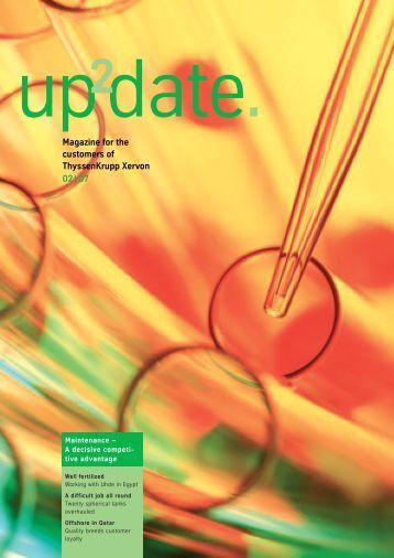 Magazine for the customers of ThyssenKrupp Xervon 02 | 07