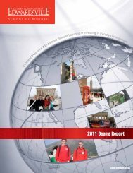 2011 Dean's Report - The Campaign for SIUE