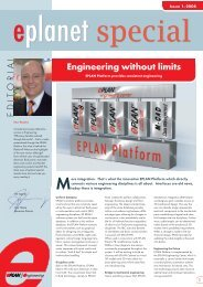 Engineering without limits E D I T O R I A L - EPLAN