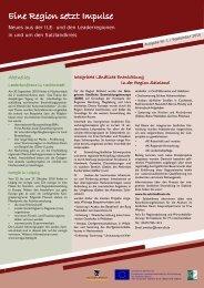 Newsletter 1 - Leader-Netzwerk Sachsen-Anhalt