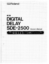 Owners Manual (SDE-2500_OM.pdf) - Roland