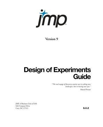 Design of Experiments Guide - JMP