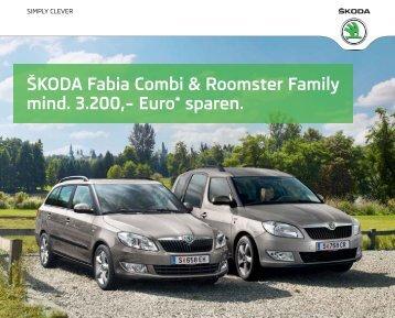 ŠKODA Fabia Combi & Roomster Family mind. 3.200 ... - Skoda