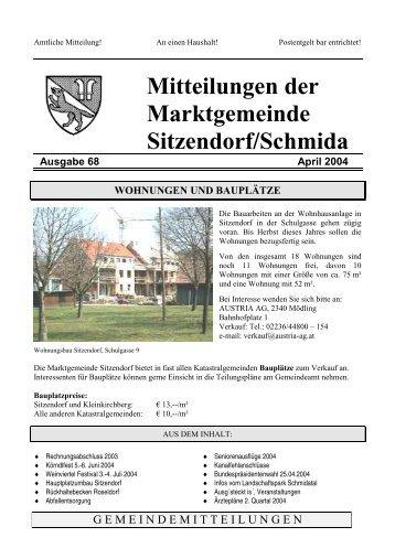 Gemeindemitteilungen 2004-04 (136 kb) - - Sitzendorf an der ...