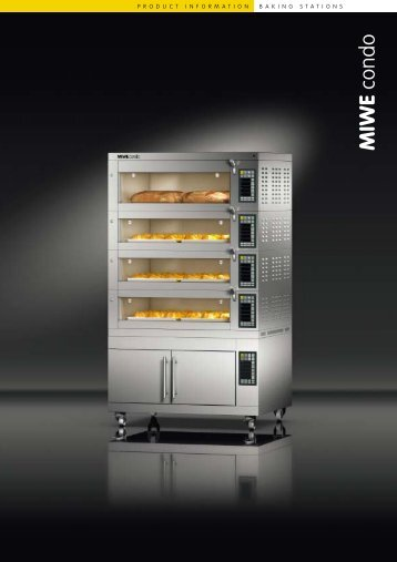 MIWE Condo Deck Oven Brochure - The WEBstaurant Store