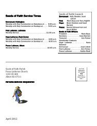 Seeds of Faith Service Times Seeds of Faith Service Times