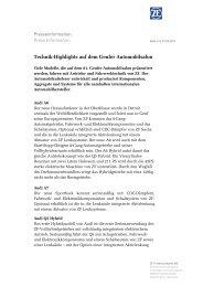 Presseinformation Press Information - ZF Friedrichshafen AG