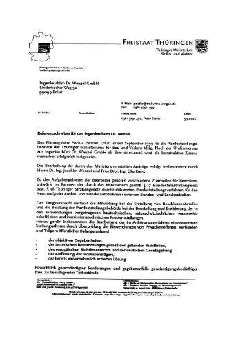FREISTAAT THÜRINGEN - Ingenieurbüro Dr. Wenzel GmbH