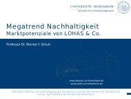 Megatrend Nachhaltigkeit - Lehrstuhl für Umweltmanagement an ...