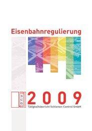 Jahresbericht 2009 - Schienen-Control