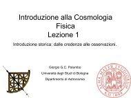 Introduzione alla Cosmologia Fisica Lezione 1