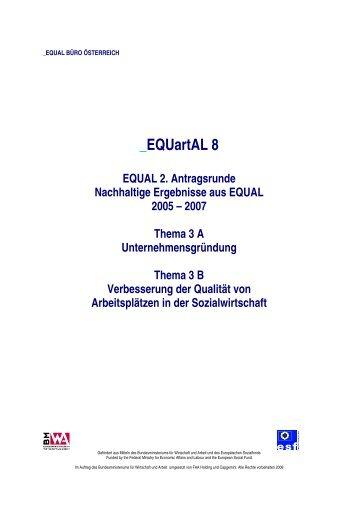 EQUAL 2. Antragsrunde - Europäischer Sozialfonds
