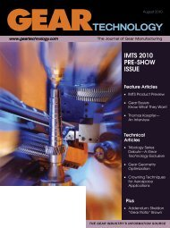 August 2010 Gear Technology - Gear Technology magazine