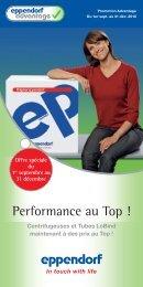 Eppendorf Advantage Performance au Top !