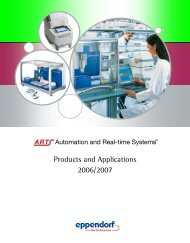 Products and Applications 2006/2007 - Eppendorf