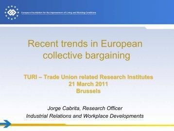 Recent trends in European collective bargaining - European Trade ...